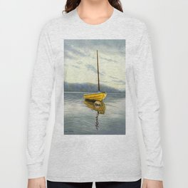 The Little Yellow Sailboat Long Sleeve T-shirt