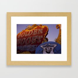 Golden Nugget Sign Framed Art Print