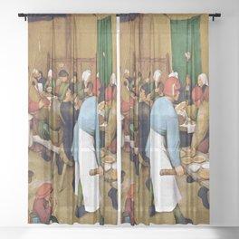 Pieter Bruegel the Elder Peasant Wedding Sheer Curtain