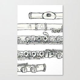 Flöte Canvas Print