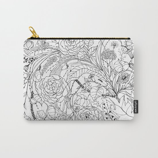 Bouquet of various flowers Carry-All Pouch