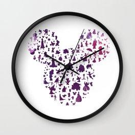 mickey ears silhouette  Wall Clock