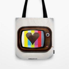 I Love TV vintage poster Tote Bag
