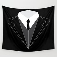 suit Wall Tapestries featuring Suit Up by whosyourdeddy