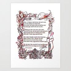 Sonnet 29 - Shakespeare Sonnet Art Art Print