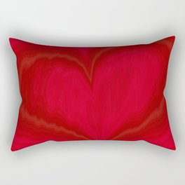 Valentine's Day Red Heart Pattern Rectangular Pillow