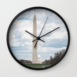 The Monument and the Capitol - Washington DC Wall Clock