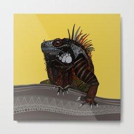 iguana gold Metal Print