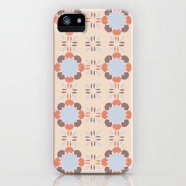 Blue Retro Tile iPhone Case