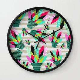 Joyful Plants II Wall Clock