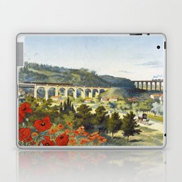Ligne des Invalides a Versailles, French Travel Poster Laptop & iPad Skin