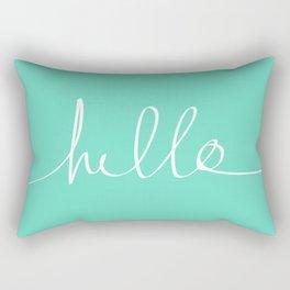 Hello x Mint Rectangular Pillow