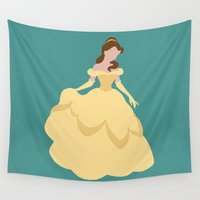belle Wall Tapestries featuring Belle by Dewdroplet