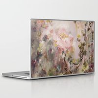 nursery Laptop & iPad Skins featuring Flora painting/Nursery by Erin Zhao