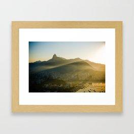Sunset à Rio Framed Art Print