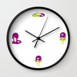 melting POE & RONI Wall Clock