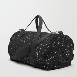 Glitter Stars2 - Silver Black Duffle Bag