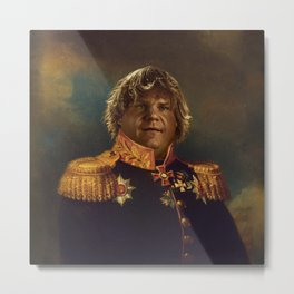 Chris Farley Portrait Metal Print