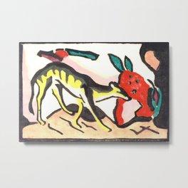 "Franz Marc ""Fantastic Creature (Fabeltier)"" Metal Print"