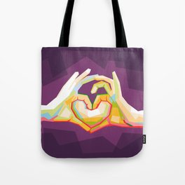 love is colorful Tote Bag