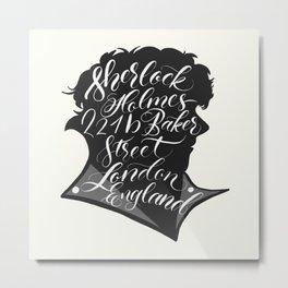 Sherlock on Baker Street Metal Print
