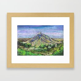 The view from Mashuk mountain (Pyatigorsk). Ladscape be pastel Framed Art Print