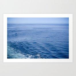 She Fell in Love on the Vast Wild Sea Art Print