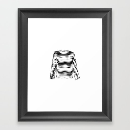 sailor tee Framed Art Print