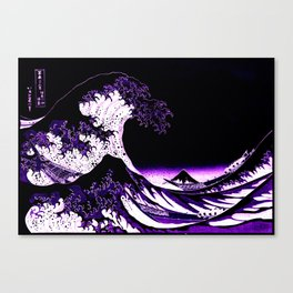 The Great Wave : Purple Canvas Print