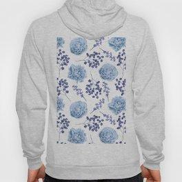 Sky Blue Roses Hoody