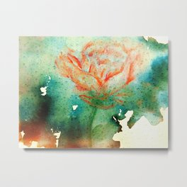 Underwater Flower Metal Print