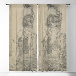 Gian Lorenzo Bernini - A Marine God with a Dolphin Blackout Curtain
