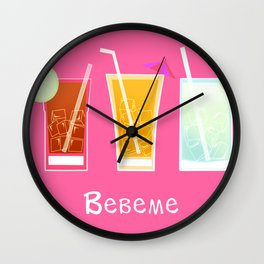 Latino drinks Wall Clock