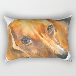 Curious Beagle Rectangular Pillow