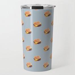 Double Cheeseburger, Plain Travel Mug
