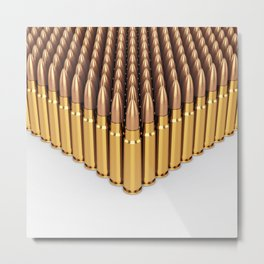 Ammunition Metal Print