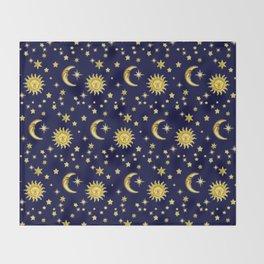 Sun, Moon & Stars Throw Blanket