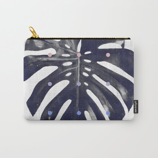 monstera + dots Carry-All Pouch