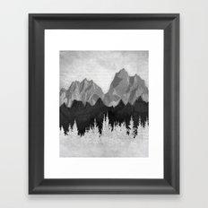 Layered Landscapes Framed Art Print