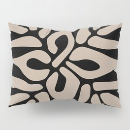 Henri matisse cut out blacka nd white flowers classic abstract, contemporary art Pillow Sham