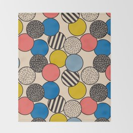 Memphis Inspired Pattern 5 Throw Blanket