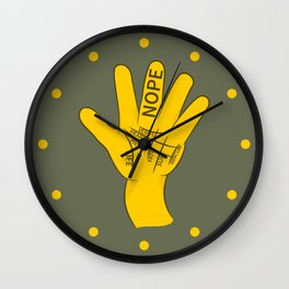 Palmistry Nope Wall Clock