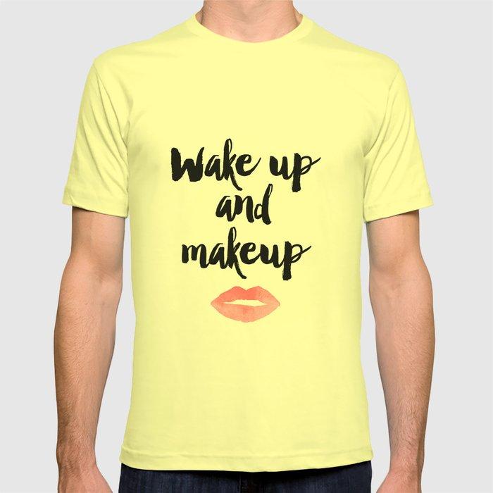 Wake Up And Makeup,Girls Room Decor,Bathroom Decor,Quote Prints,Lips ...