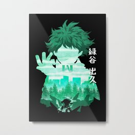 Minimalist Silhouette Deku Metal Print