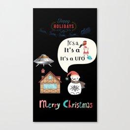 Santa UFO Canvas Print