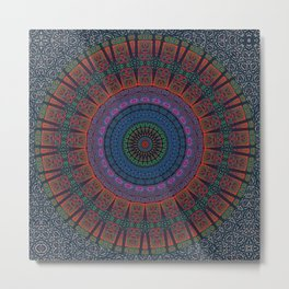 Night Garden | Indian Mandala Metal Print