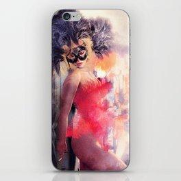 Painted Fan Dancer - Dressing Room Break iPhone Skin