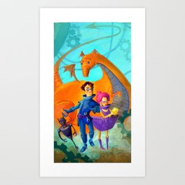 Space Charachters Art Print