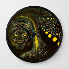 Dark Jaguar Wall Clock