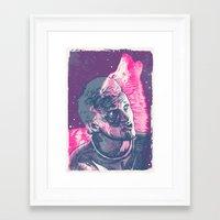 jenna kutcher Framed Art Prints featuring Jenna Stempel by Skinjobs